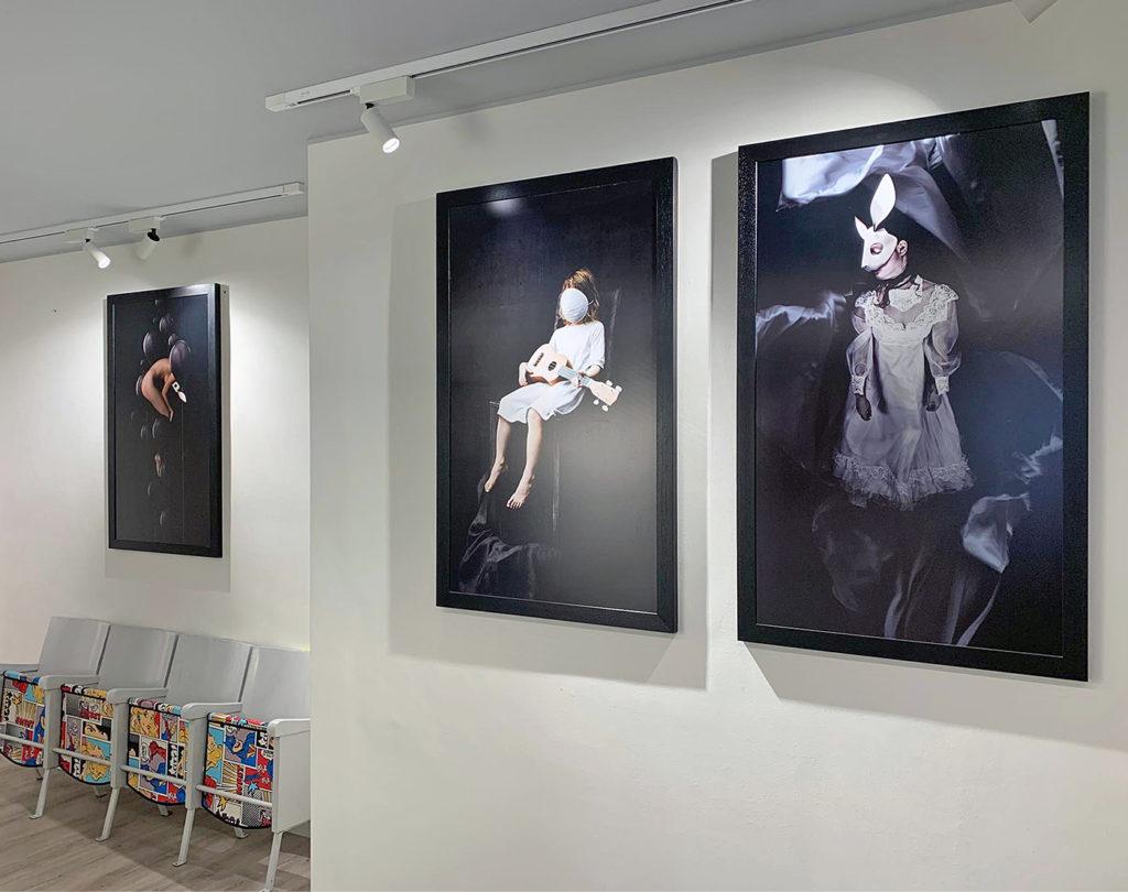 Immagini esposizione presso lo Studio AMSL Avvocati